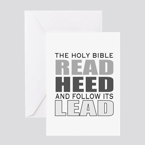 Christian bible leader Greeting Cards