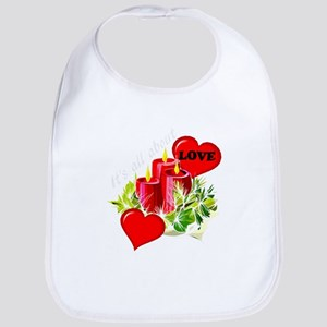 Christmas is about love Bib