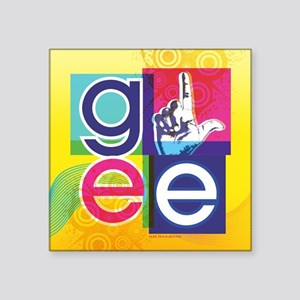 "Glee Colorful Square Sticker 3"" x 3"""