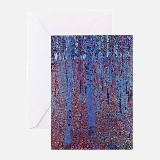 Beech Forest by Gustav Klimt, Vinta Greeting Cards