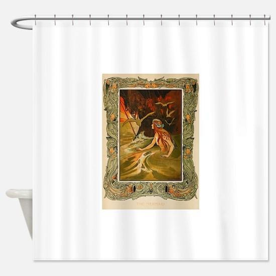 The Mermaid HC Andersen Shower Curtain