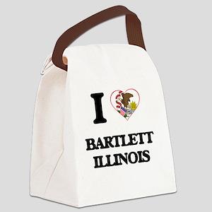 I love Bartlett Illinois Canvas Lunch Bag