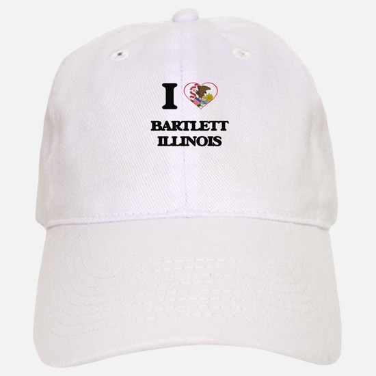 I love Bartlett Illinois Baseball Baseball Cap