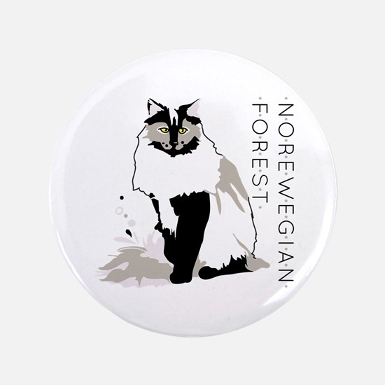 Norwegian forest cat Button