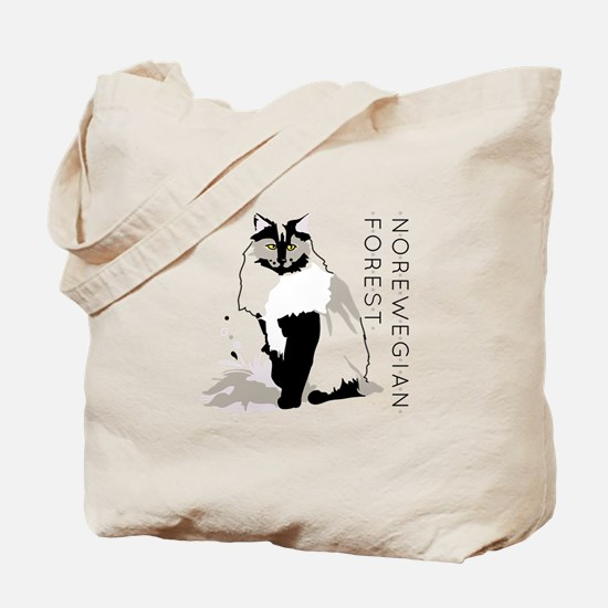 Norwegian forest cat Tote Bag