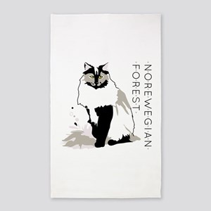 Norwegian forest cat Area Rug