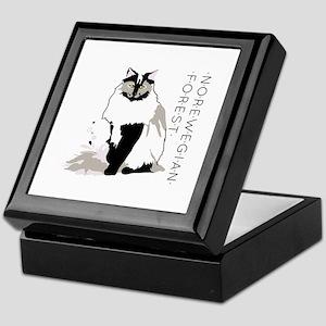 Norwegian forest cat Keepsake Box