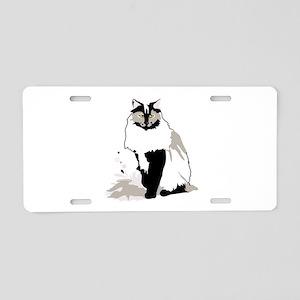 Norwegian forest cat Aluminum License Plate