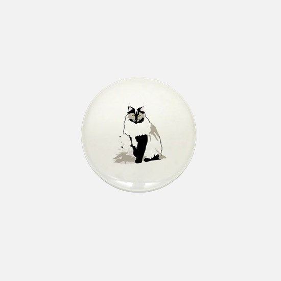 Norwegian forest cat Mini Button