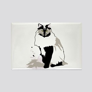 Norwegian forest cat Magnets