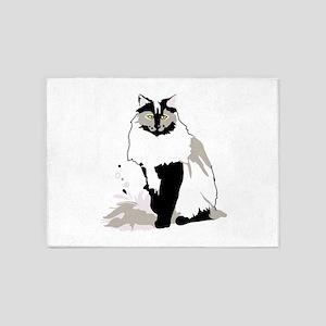 Norwegian forest cat 5'x7'Area Rug