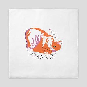 Manx cat Queen Duvet