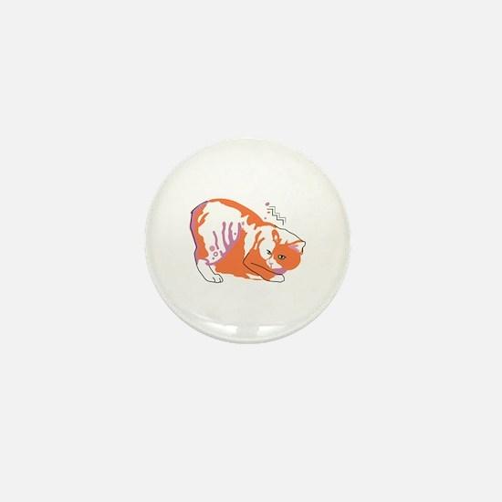 Manx cat Mini Button