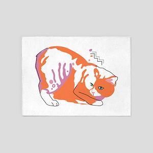 Manx cat 5'x7'Area Rug