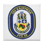 USS KAUFFMAN Tile Coaster