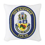USS KAUFFMAN Woven Throw Pillow