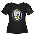 USS KAUF Women's Plus Size Scoop Neck Dark T-Shirt