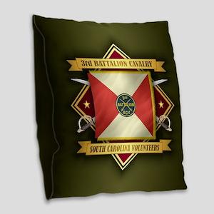 3rd Battalion Sc Volunteer Burlap Throw Pillow
