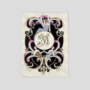 Monogram M Barbier Cabaret 5'x7'Area Rug
