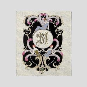 Monogram M Barbier Cabaret Throw Blanket