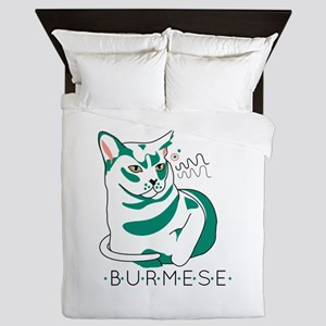 Burmese cat Queen Duvet