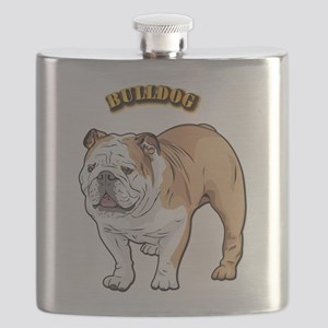 bulldog with text Flask