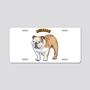 bulldog with text Aluminum License Plate