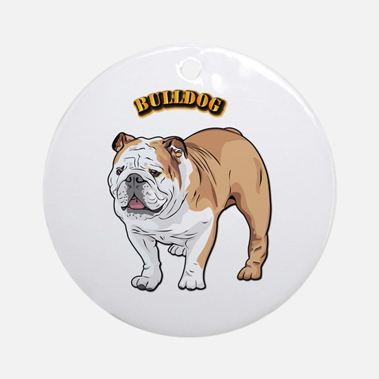 bulldog with text Ornament (Round)