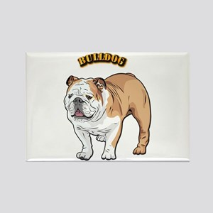 bulldog with text Rectangle Magnet