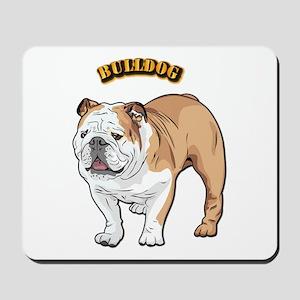 bulldog with text Mousepad