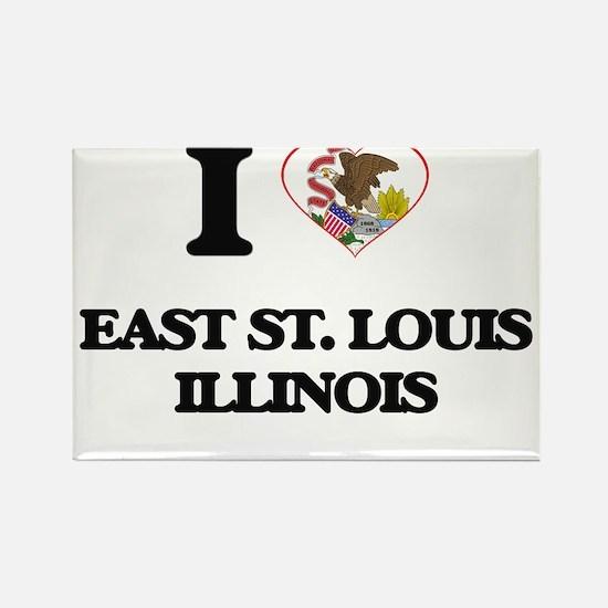 I love East St. Louis Illinois Magnets