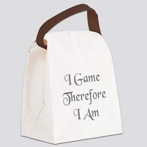 I Game Therefore I Am Canvas Lunch Bag