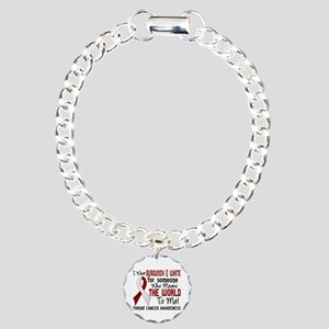 Throat Cancer MeansWorld Charm Bracelet, One Charm