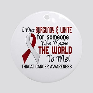Throat Cancer MeansWorldToMe2 Ornament (Round)