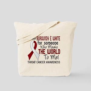 Throat Cancer MeansWorldToMe2 Tote Bag