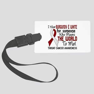 Throat Cancer MeansWorldToMe2 Large Luggage Tag