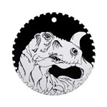 Saw Blade Rex Ornament (Round)