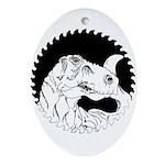 Saw Blade Rex Oval Ornament