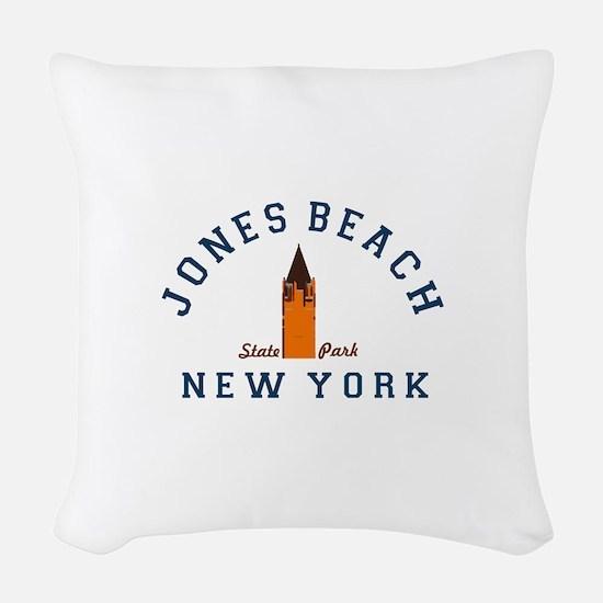 Jones Beach Woven Throw Pillow