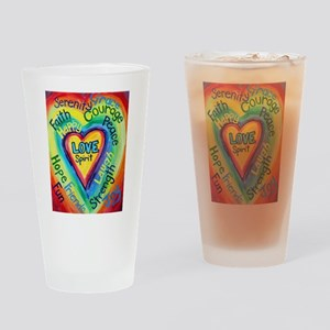 Happy words Drinking Glass