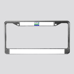 save the earth License Plate Frame