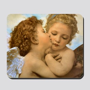 First Kiss by Bouguereau Mousepad