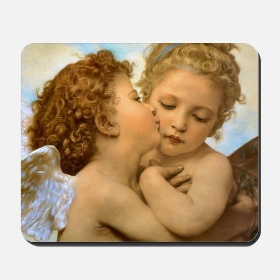 First Kiss by Bouguereau Mousepad