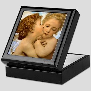 First Kiss by Bouguereau Keepsake Box