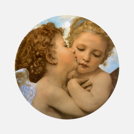 First Kiss by Bouguereau Ornament (Round)