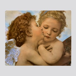 First Kiss by Bouguereau Throw Blanket