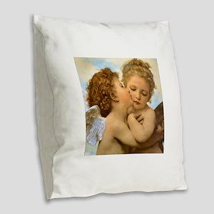 First Kiss by Bouguereau Burlap Throw Pillow