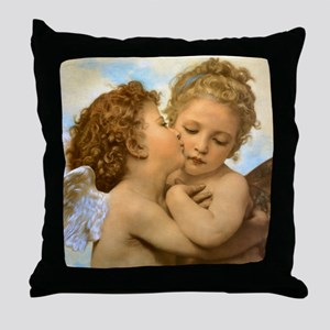 First Kiss by Bouguereau Throw Pillow