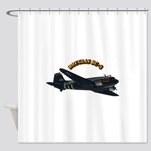 Douglas DC-3 With Text Shower Curtain