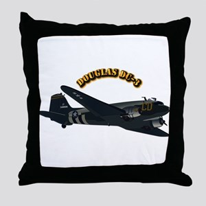 Douglas DC-3 With Text Throw Pillow